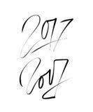 Νέο σχέδιο κειμένων έτους 2017 Σχέδιο εγγραφής χεριών διάνυσμα Στοκ εικόνες με δικαίωμα ελεύθερης χρήσης
