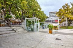 Νέο τετράγωνο Στοκ εικόνα με δικαίωμα ελεύθερης χρήσης