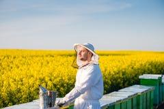 Νέο υπερήφανο apiarist Στοκ Φωτογραφία