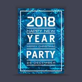 Νέο υπόβαθρο έτους με το διάστημα για το κείμενό σας Χειμερινό πλαίσιο με snowflakes χαιρετισμός Χριστουγέννων καρτών Στοκ Φωτογραφίες