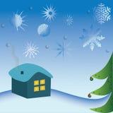 Νέο υπόβαθρο έτους με το χριστουγεννιάτικο δέντρο Στοκ φωτογραφία με δικαίωμα ελεύθερης χρήσης