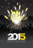 Νέο υπόβαθρο έτους πολυτέλειας με τα πυροτεχνήματα στοκ εικόνα με δικαίωμα ελεύθερης χρήσης