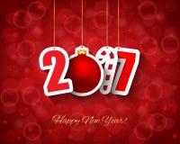 2017 νέο υπόβαθρο έτους ελεύθερη απεικόνιση δικαιώματος