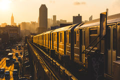 νέο υπόγειο τρένο Υόρκη Στοκ Εικόνα