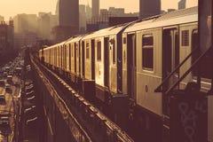 νέο υπόγειο τρένο Υόρκη Στοκ Φωτογραφίες