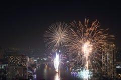 Νέο φεστιβάλ έτους πυροτεχνημάτων, Μπανγκόκ, Ταϊλάνδη Στοκ φωτογραφία με δικαίωμα ελεύθερης χρήσης