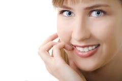 Νέο χαμόγελο γυναικών Στοκ εικόνα με δικαίωμα ελεύθερης χρήσης