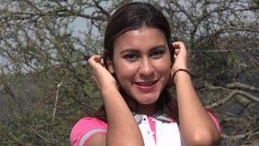 Νέο χαμόγελο γυναικών Flirty απόθεμα βίντεο