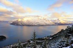 νέο χιόνι Ζηλανδία βουνών Στοκ Φωτογραφίες