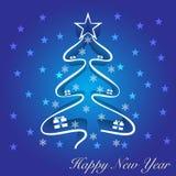Νέο χριστουγεννιάτικο δέντρο έτους Στοκ φωτογραφία με δικαίωμα ελεύθερης χρήσης