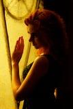 Νέο όμορφο κοκκινομάλλες κορίτσι με ένα όμορφο πρόσωπο και όμορφος Στοκ Φωτογραφίες