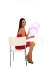Νέο όμορφο κορίτσι με τα μπαλόνια Στοκ Φωτογραφία