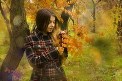 Νέο όμορφο κορίτσι στη φύση Στοκ Εικόνες