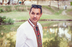 Νέο όμορφο ουκρανικό άτομο Στοκ Φωτογραφίες