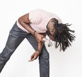 Νέο όμορφο τραγούδι αγοριών αφροαμερικάνων Στοκ Εικόνα