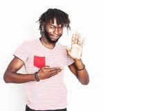 Νέο όμορφο afro αμερικανικό emoti hipster αγοριών μοντέρνο Στοκ Φωτογραφία