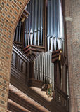 Νέο όργανο στη βασιλική Archcathedral στο Πόζναν Στοκ Εικόνες