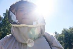 Νέο Apiarist στον ήλιο Στοκ Φωτογραφίες