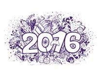 Νέο compotision έτους doodle Στοκ φωτογραφία με δικαίωμα ελεύθερης χρήσης