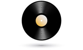 Νέο gramophone βινυλίου LP ρεαλιστικό εικονίδιο αρχείων Στοκ Φωτογραφία