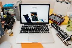 Νέο iPad υπολογιστών της Apple υπέρ, iPhone 6s, 6s συν και της Apple TV Στοκ Εικόνες
