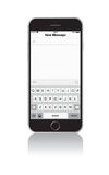 Νέο iPhone 6 οθόνη μηνυμάτων Στοκ φωτογραφίες με δικαίωμα ελεύθερης χρήσης