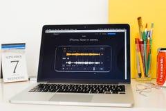 Νέο iPhone 7 στερεοφωνικός ήχος Στοκ εικόνα με δικαίωμα ελεύθερης χρήσης