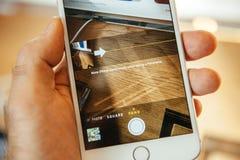 Νέο iPhone 6 της Apple και iPhone 6 συν Στοκ Φωτογραφία