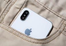 Νέο Iphone Χ έξυπνο τηλέφωνο Η νεώτερη Apple Iphone 10 Στοκ Φωτογραφίες