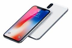 Νέο iPhone Χ της Apple Στοκ Εικόνα