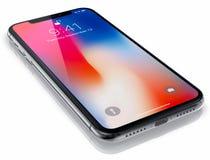 Νέο iPhone Χ της Apple Στοκ Εικόνες