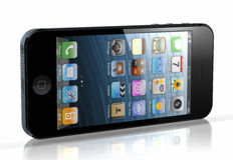 Νέο iPhone 5 Στοκ Εικόνα