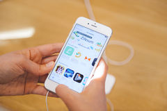 Νέο iPhone 6S και iPhone 6s συν Στοκ φωτογραφία με δικαίωμα ελεύθερης χρήσης