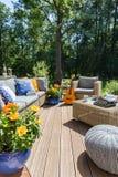 Νέο patio βιλών σχεδίου στοκ φωτογραφία με δικαίωμα ελεύθερης χρήσης