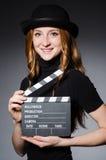 Νέο redhead κορίτσι στο καπέλο Στοκ Φωτογραφίες