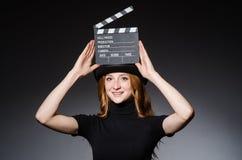 Νέο redhead κορίτσι στο καπέλο Στοκ Εικόνες