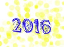 νέο s έτος ημέρας 2016 Στοκ Εικόνα