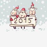 νέο s έτος καρτών Στοκ εικόνες με δικαίωμα ελεύθερης χρήσης