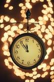 νέο s έτος ρολογιών Στοκ φωτογραφία με δικαίωμα ελεύθερης χρήσης