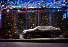 νέο s έτος τοπίου αυτοκινήτων Στοκ Φωτογραφία