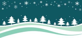 νέο s έτος Χριστουγέννων landskape διανυσματική απεικόνιση