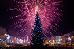 νέο s παραμονής έτος πυροτεχνημάτων στοκ εικόνα