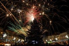 νέο s παραμονής έτος πυροτεχνημάτων στοκ φωτογραφία με δικαίωμα ελεύθερης χρήσης