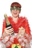 νέο s σαμπάνιας έτος διακο&pi Στοκ Εικόνες