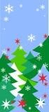 νέο s χειμερινό έτος ανασκόπ&e διανυσματική απεικόνιση