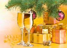 νέο s Χριστουγέννων έτος διακοσμήσεων Στοκ Εικόνα