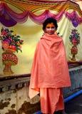 Νέο sadhu με το μέτωπο makeup, simhasth mela 2016, Ujjain Ινδία της Maha kumbh Στοκ Φωτογραφία