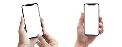 νέο smartphone τηλεφωνικής τεχνολογίας με την κενή οθόνη και το σύγχρονο fra στοκ εικόνες με δικαίωμα ελεύθερης χρήσης