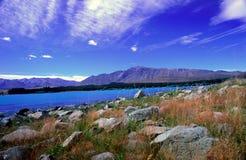 νέο tekapo Ζηλανδία λιμνών Στοκ Εικόνες