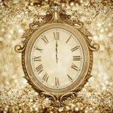 Νέο year& x27 ρολόι του s Στοκ Εικόνες